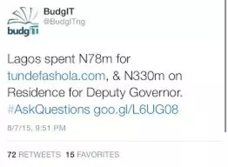 Fashola N78M Website Scandal