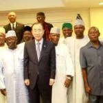 Photos: Akinwumi Ambode, Ibikunle Amosun, Nair El-Rufai, Adams Oshiomhole, Rochas Okorocha and Others Meet UN Secretary-General Ban Ki-Moon in Nigeria