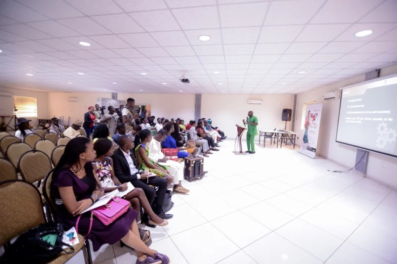 The business/symposium session with Bank of Industry