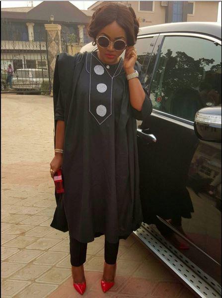Mercy Aigbe agbada dress 01