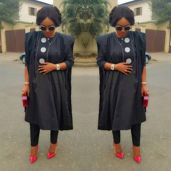 Mercy Aigbe agbada dress 02