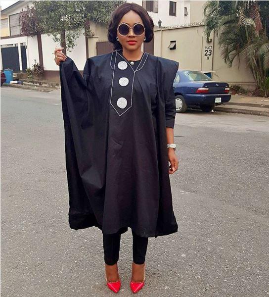 Mercy Aigbe agbada dress