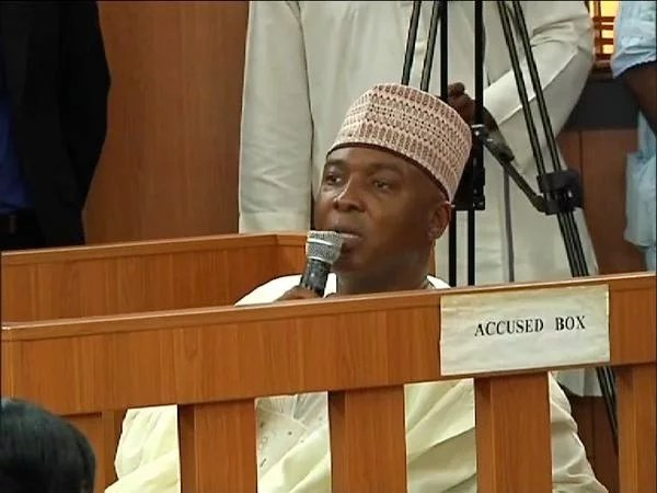 Senator Saraki at Accused Box
