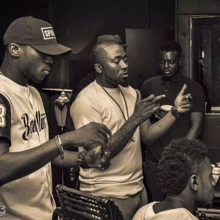 Ice Prince, DJ Spinall, Yung L in Studio