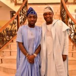 "Photos: Davido and His Billionaires Dad Deji Adeleke Rock Yoruba Traditional "" Agbada "" Dress"