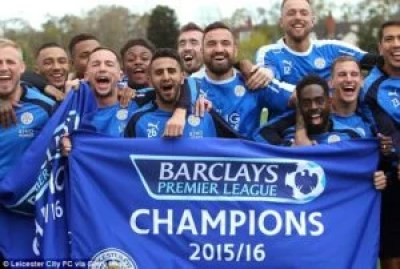 Leicester City FC Win 2016 EPL