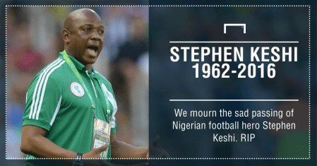 Stephen Keshi dies at 54