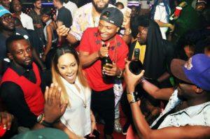 Wizkid and Girlfriend in Club