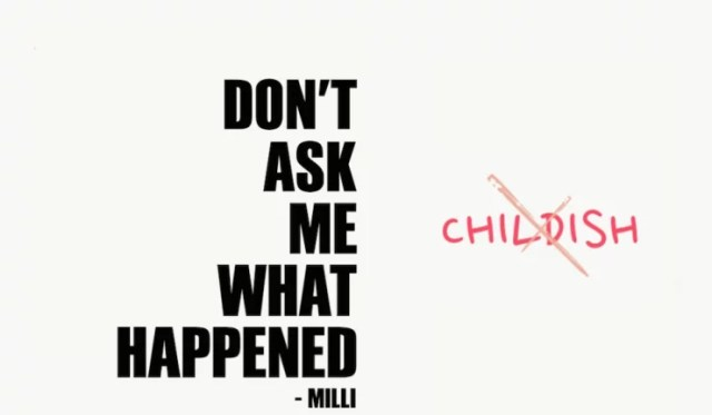 Milli – Don't Ask Me What Happened (EP) Cover Art