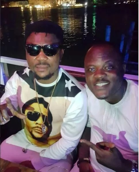 Oritse Femi and ex-manager Danku