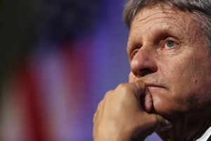 "Gary Johnson, 2016 Libertarian presidential nominee, listens to questions from audience members during a campaign event at Purdue University in West Lafayette, Indiana, U.S., on Tuesday, Sept. 13, 2016. Johnson said he was ""incredibly frustrated"" with himself after failing to recognize the name of the Syrian city of Aleppo in a TV interview last week. Photographer: Luke Sharrett/Bloomberg via Getty Images"