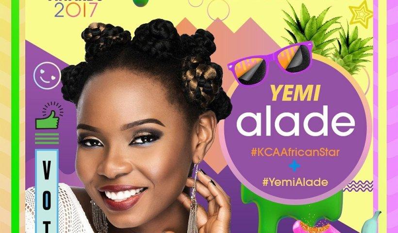 Yemi Alade - Nickolodeon KCA Award Nomination Poster