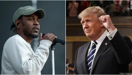 Donald Truump and Kendrick Lamar