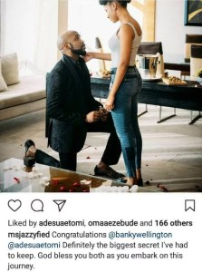 Adesua Etomi Manager Confirms Engaged to Banky W