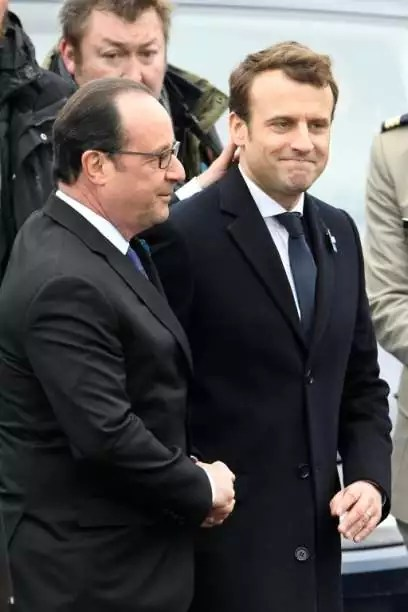Francois Hollande and Emmanuel Macron