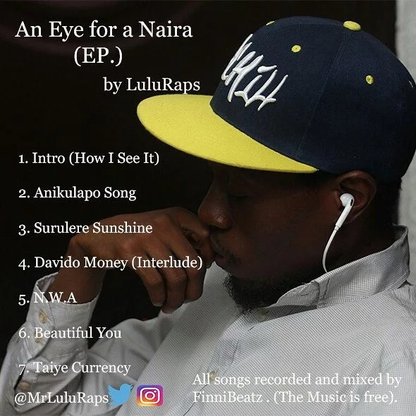LuluRaps -- All Eyes For Naira EP Cover Art
