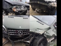 Nathaniel Bassey escaped ghastly car accident