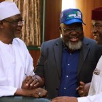 Drama As Adebayo Shittu, Disgrace From Sharing Buhari/Osinbajo 2019 Campaign Hats at FEC Meeting