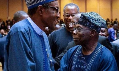 Buhari and Obasanjo at AU Summit 2018