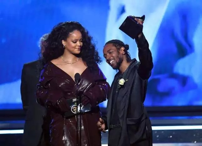 Rihanna and Kendrick Lamar At Grammy Awards 2018