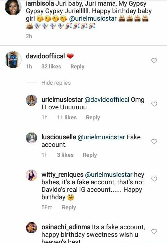 Uriel Falls for Fake Davido