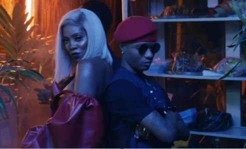 Tiwa Savage and Wizkid