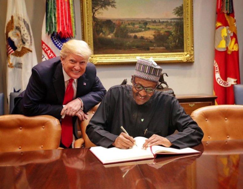 Donald Trump and President Buhari