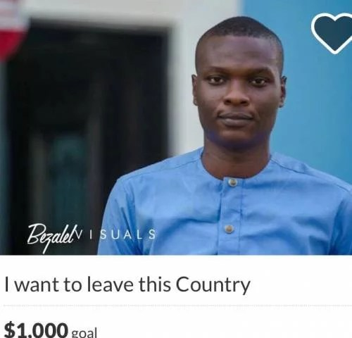 Nigerian Open GoFundMe Campaign to Travel Abroad