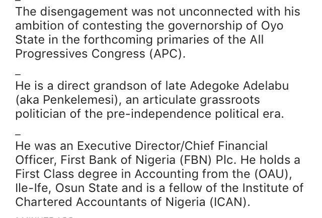 CBN Daeputy Governor Adebayo Adelabu Resigns 01