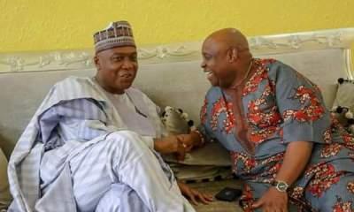 Bukola Saraki Meets PDP Canditate Ademola Adeleke & SDP Canditate Iyiola Omisore in Osun