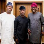 Yemi Osinbajo Meets Tinubu's Anointed Candidate Sanwo-Olu In Lagos