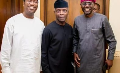 Osinbajo Meets Sanwo Olu In Lagos