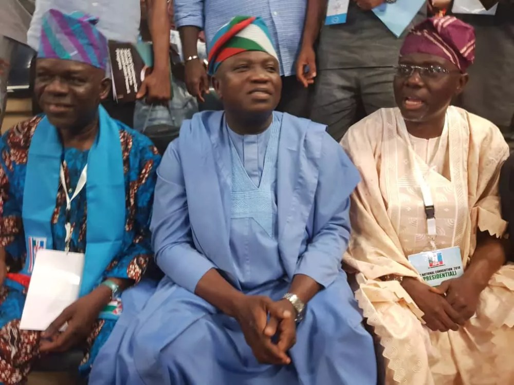 Ambode and Sanwo-Olu Arrives APC National Convention Together 05