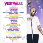 Davido to Perform Alongside With Cardi B, Future, Meek Mill At 2019 VestiVille in Belgium