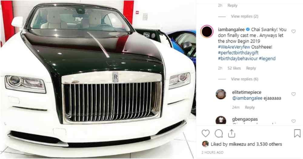 D'banj Buys White Rolls Royce for His Birthday