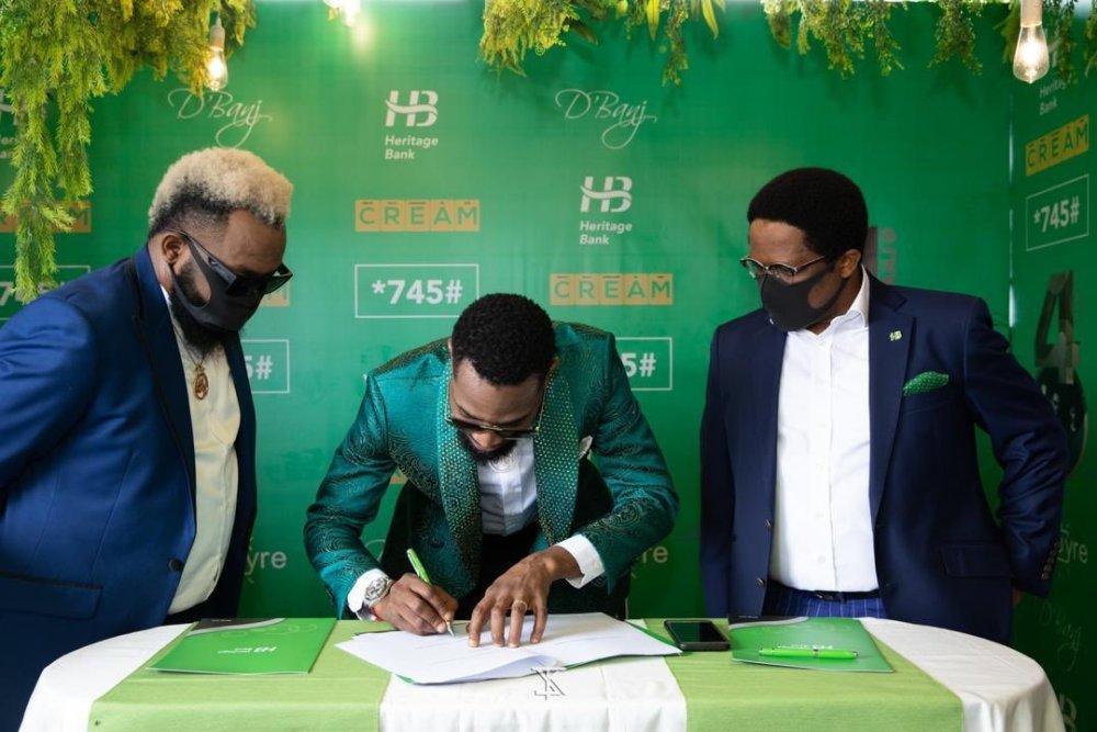 D'banj Signs Multimillionaire Endorsement with Heritage Bank