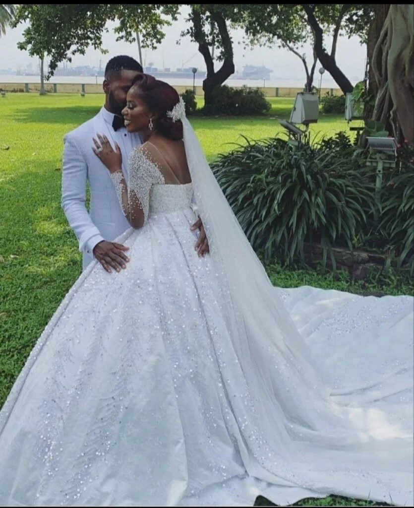 Debola Williams White Wedding