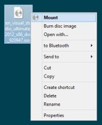 Visual Studio 2012 setup fails: The cabinet file is ...