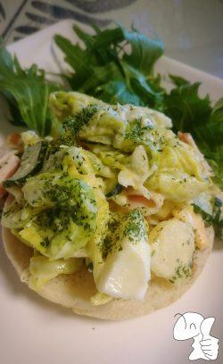 春キャベツのポテマカサラダ