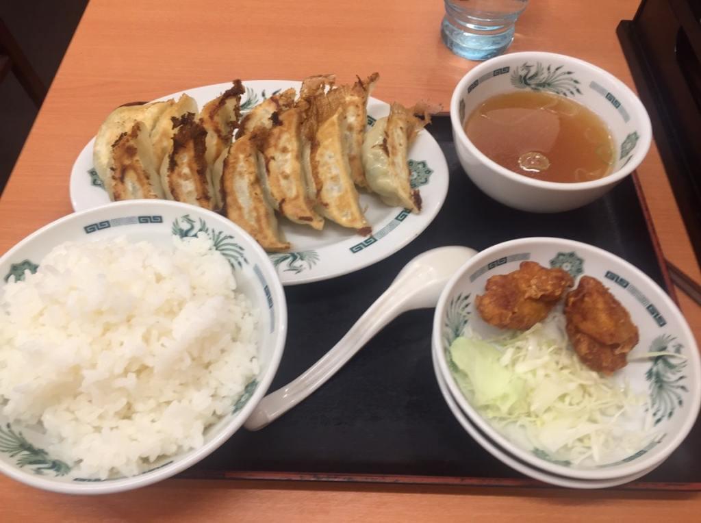 日高屋 W餃子定食