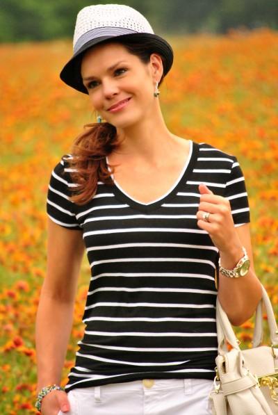 Black White Stripes Close