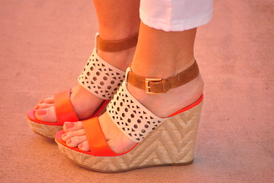 Sole Society Orange Wedges