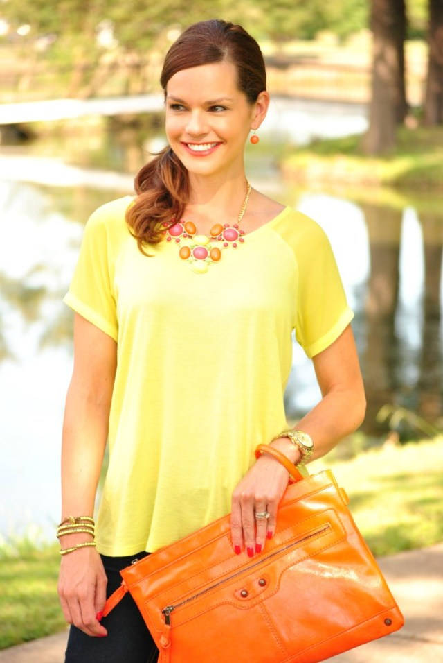 Neon Yellow Shirt Jeans 342
