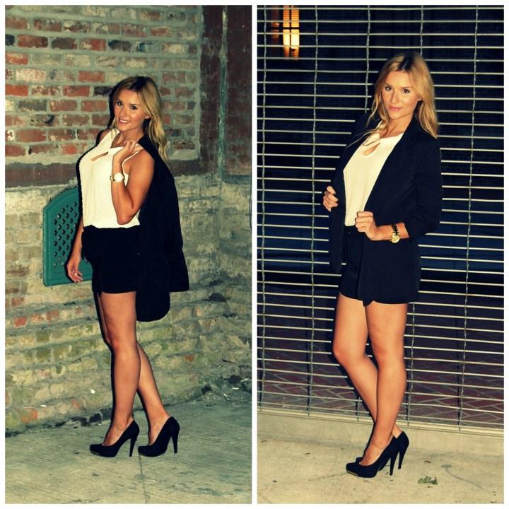 Black-White-Shorts-Blazer-Fall