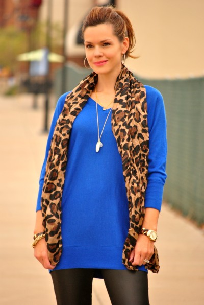 Leather and Leopard Dressy Half