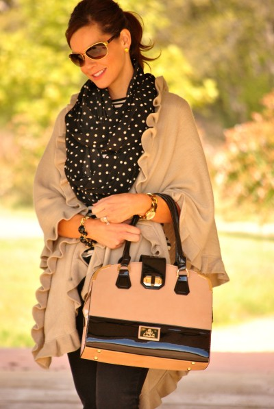 Black and Beige Outfit Half