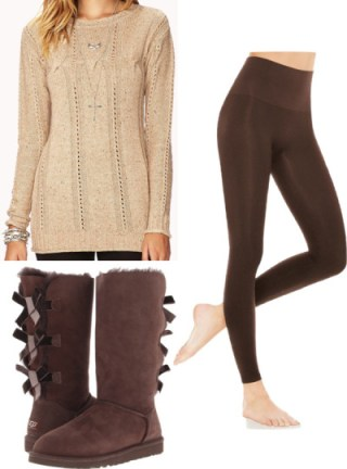Sweater Leggings outfit