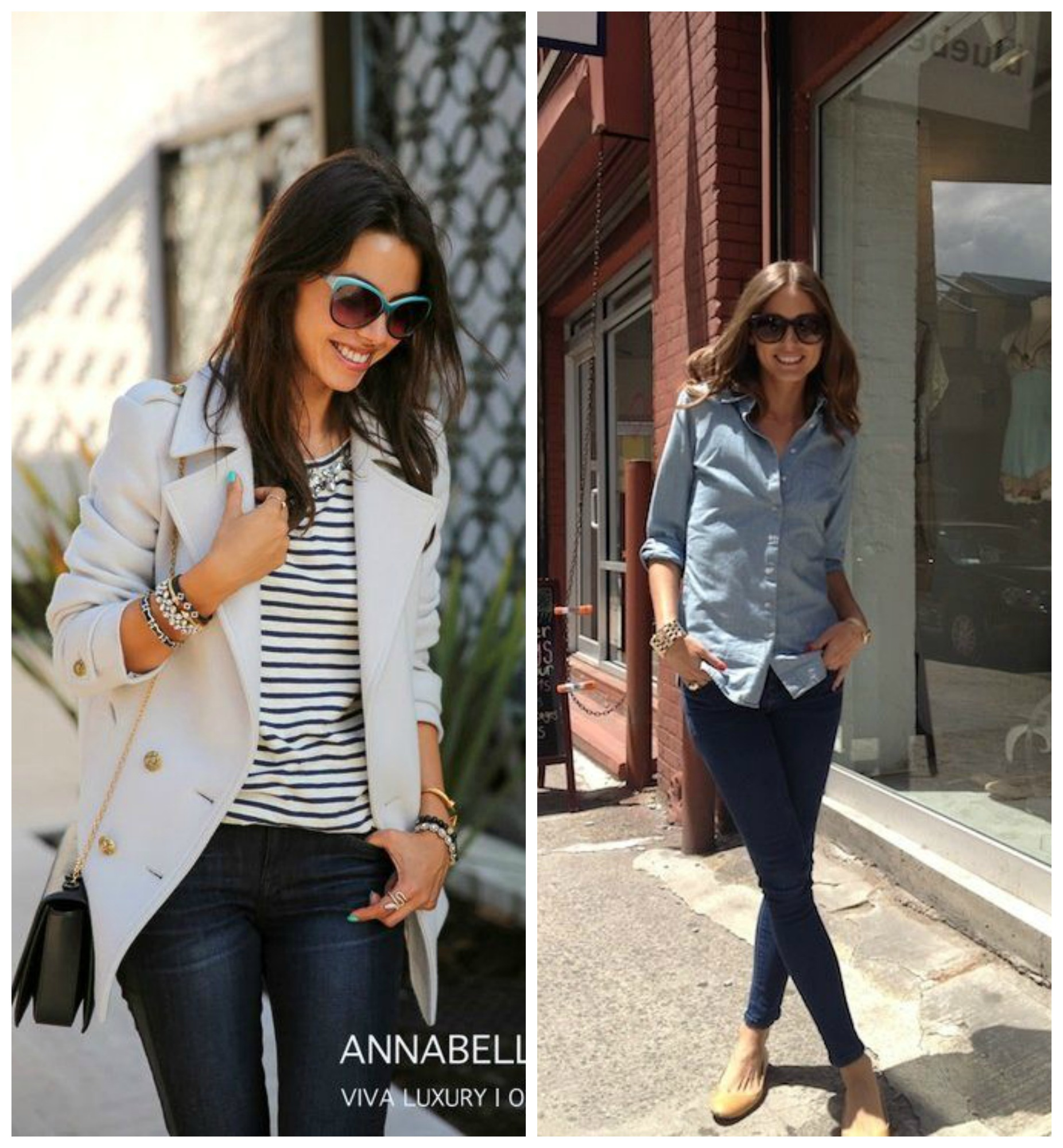 Casual Chic Outfit Basics   Dark Wash Skinny Jeans   Get Your ...