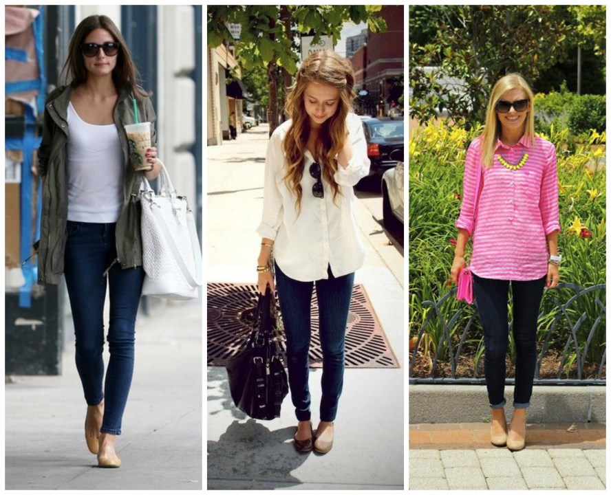 Dark Wash Skinny Jeans Outfits 2