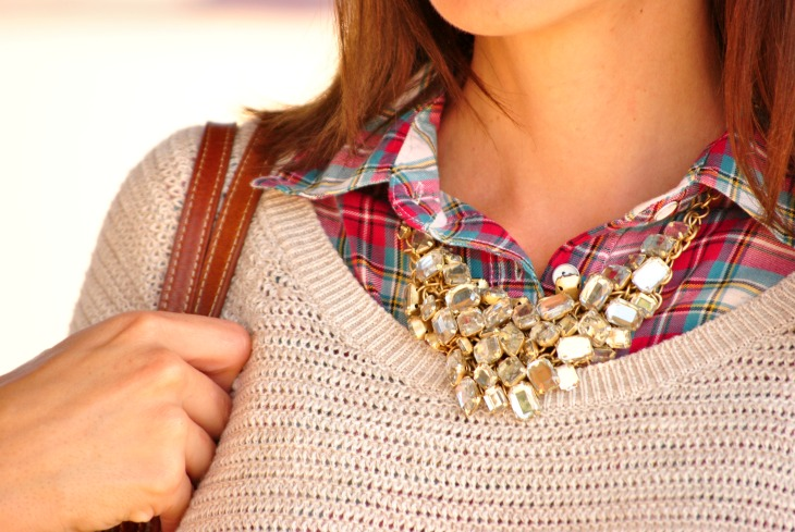 plaid-shirt-statement-necklace